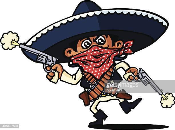 mexikanische robber - sombrero stock-grafiken, -clipart, -cartoons und -symbole