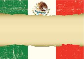 Mexican scratched flag.
