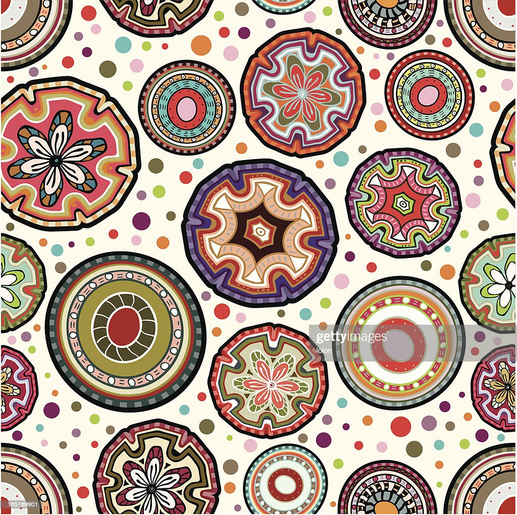 mexican seamless circular wallpaper vector art | getty images