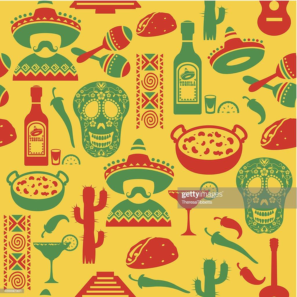 Sem costura mexicano padrão : Ilustração de stock