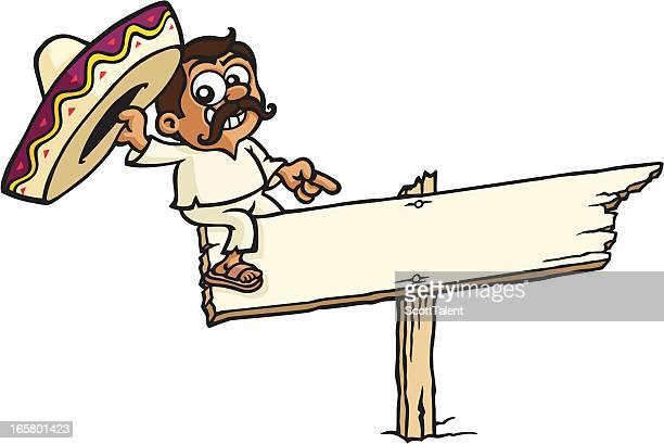 mexikanische-schild - sombrero stock-grafiken, -clipart, -cartoons und -symbole