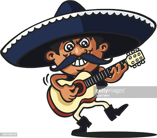 mexican singer - sombrero stock illustrations