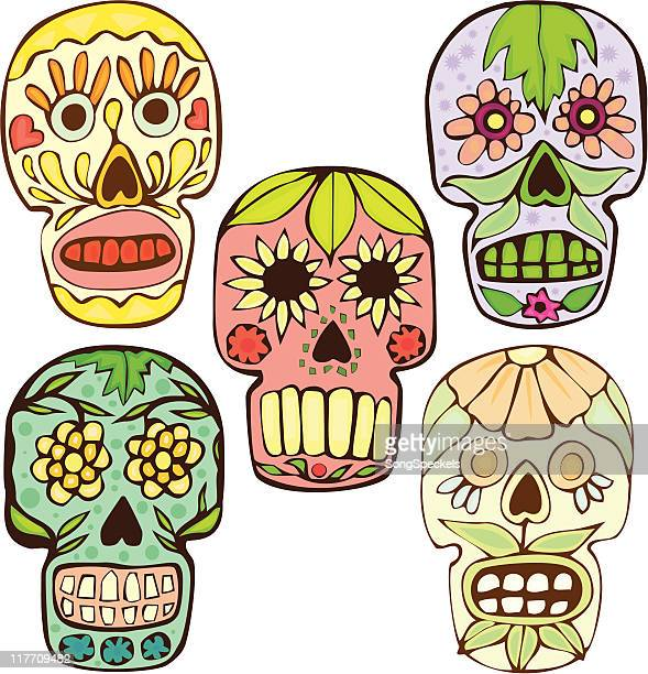 Mexican Skulls for Day of the Dead