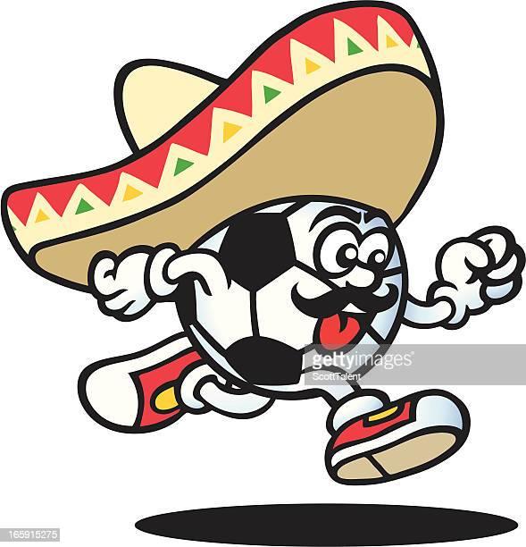 ilustraciones, imágenes clip art, dibujos animados e iconos de stock de guy mexicana de fútbol - guantes de portero