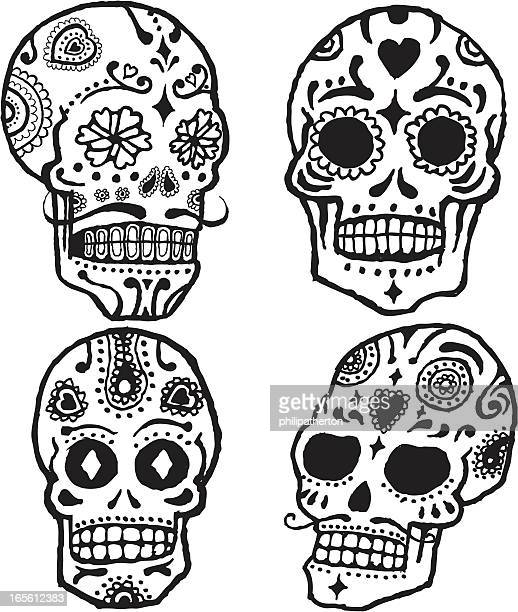 Mexican style candy skulls