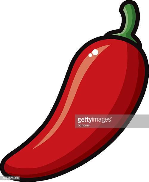 ilustrações de stock, clip art, desenhos animados e ícones de ícone de pimenta mexicana de estilo - pimenta
