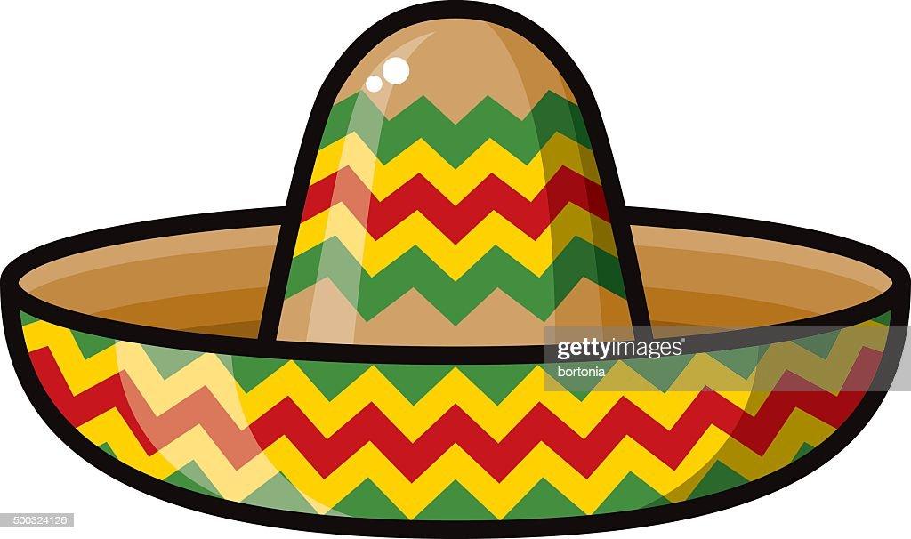 Mexican Style Sombrero Icon : stock illustration