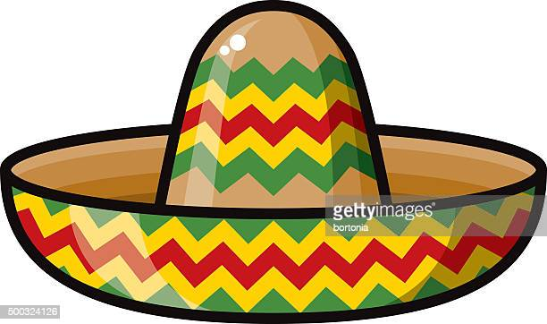 mexican style sombrero icon - sombrero stock illustrations