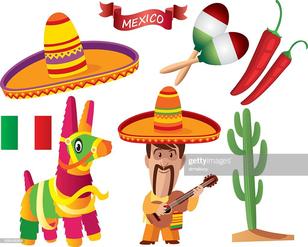 Mexican Symbols : Stock Illustration
