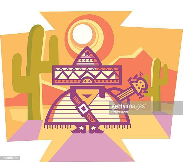 mexican - sombrero stock illustrations