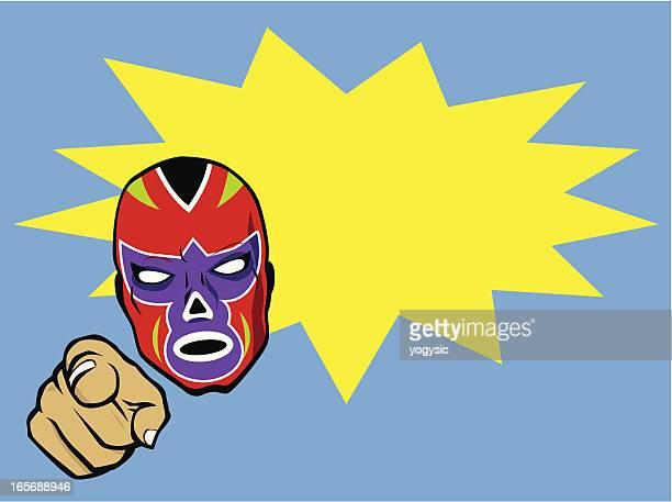 Mexican Wrestler Head Bust