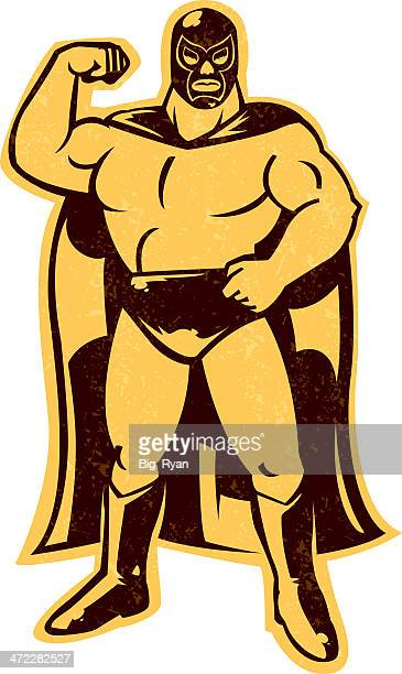 mexican wrestler - mexican culture stock illustrations