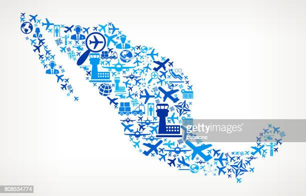 Mexico Aviation and Air Planes Vector Graphic