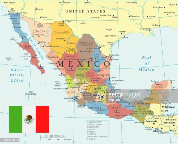 Mexico Map Sinaloa.Sinaloa Stock Illustrations And Cartoons