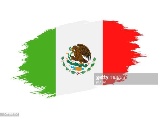México - Grunge bandera Vector icono plana