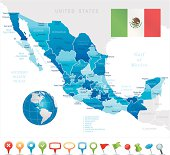 Mexico - highly detailed map