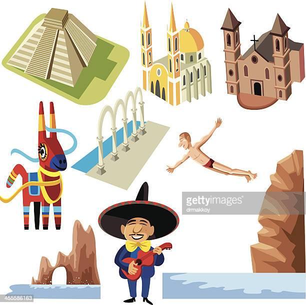 ilustrações, clipart, desenhos animados e ícones de méxico ikons - pinata