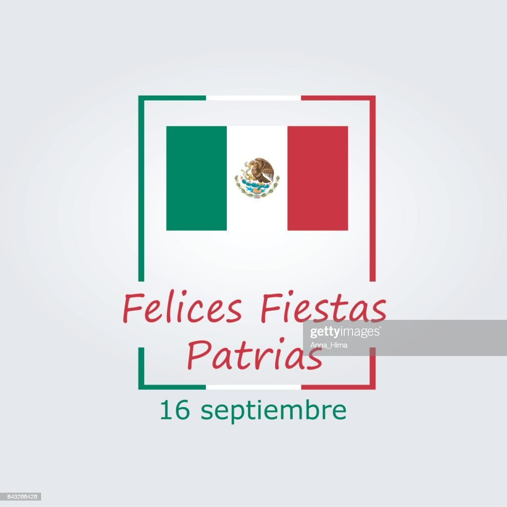 Mexico Independence Day Greetings Card Modern Design In The Colors