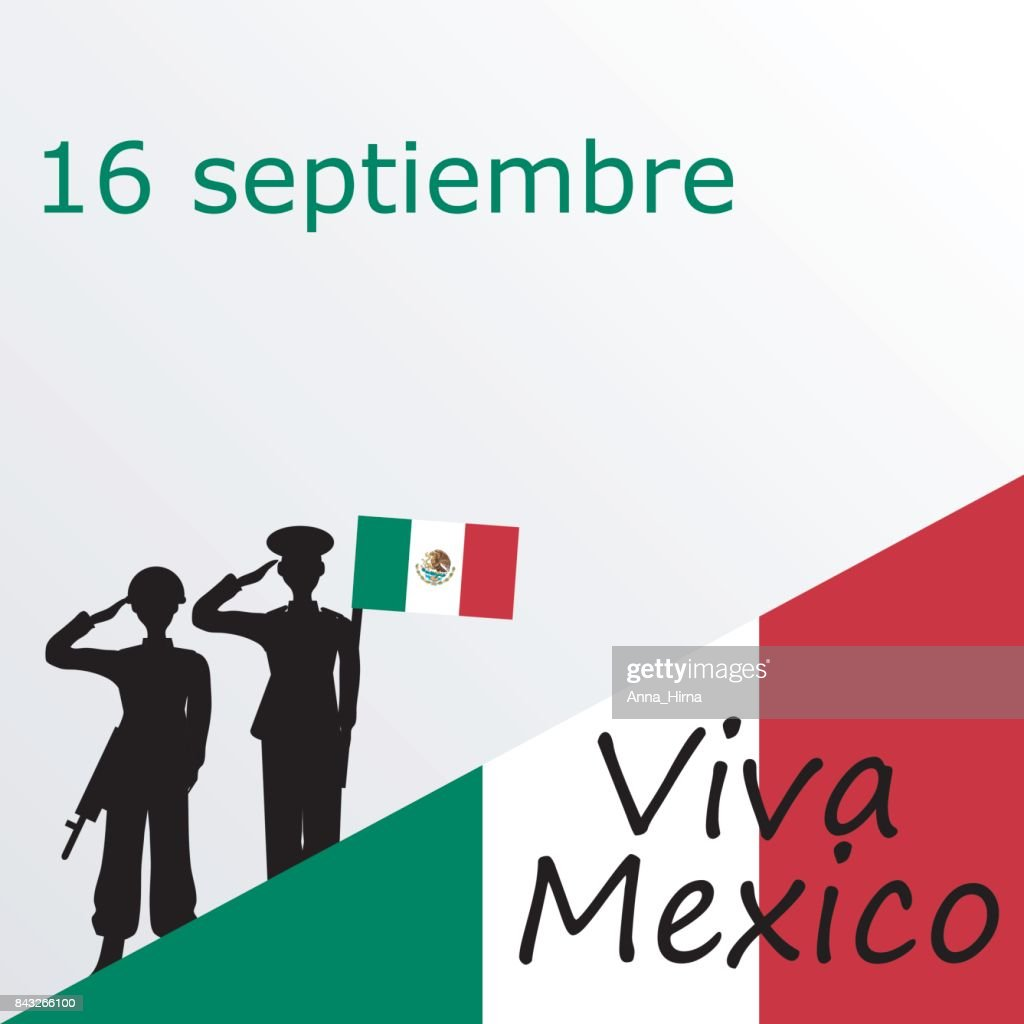Mexico Independence Day Greetings Card Vector Art Getty Images