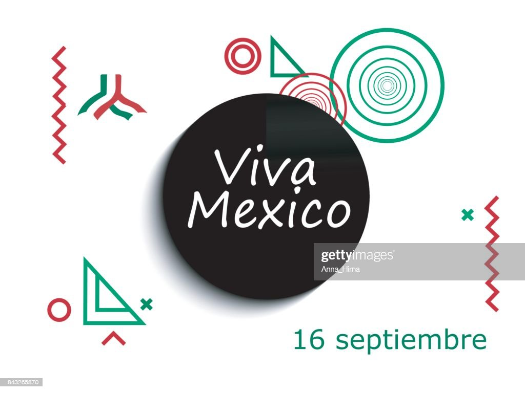 Mexico Independence Day Greetings Card Viva Mexico Traditional