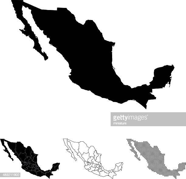 mexico map - mexico stock illustrations