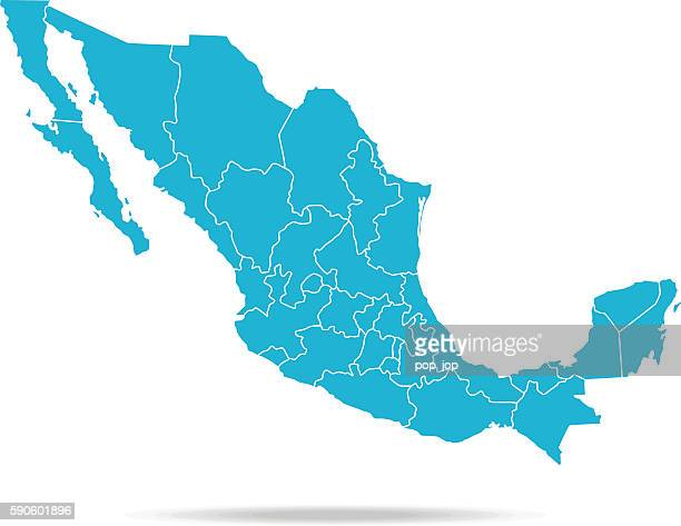 ilustrações de stock, clip art, desenhos animados e ícones de mapa do méxico - mexicano
