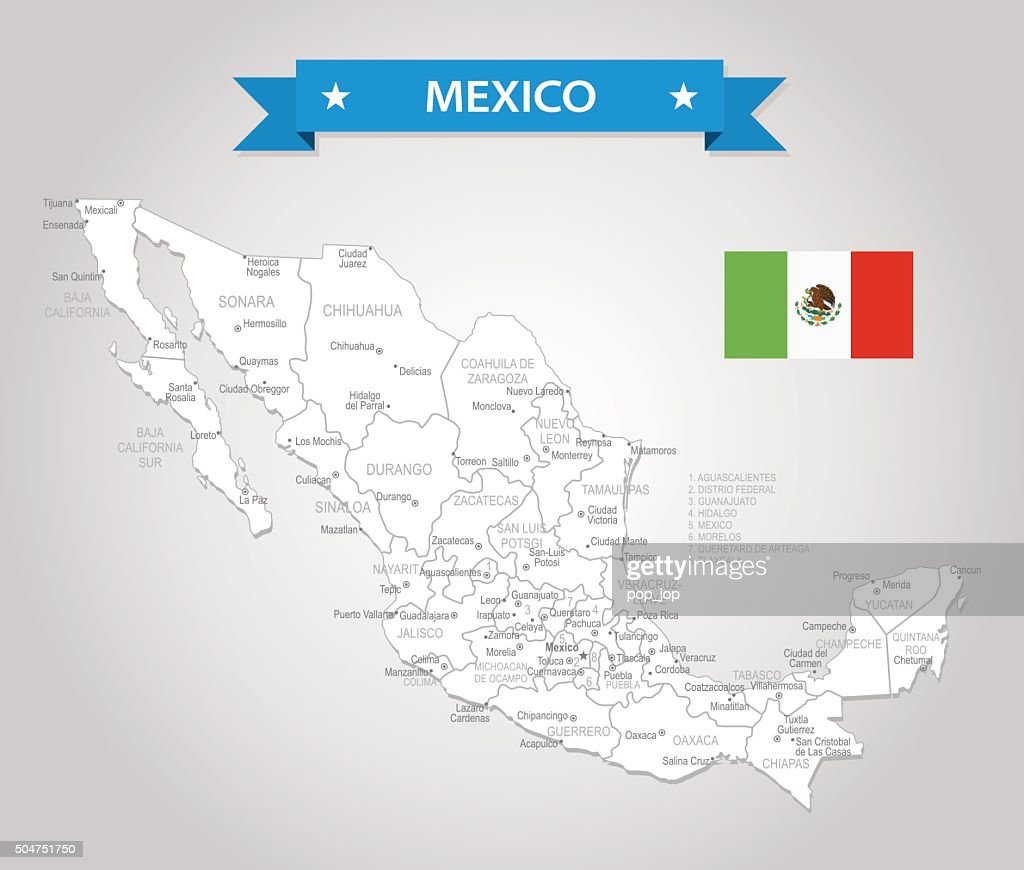 Monclova Mexico Map.Mexico Oldfashioned Map Illustration Vector Art Getty Images