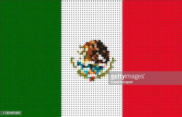 Mexiko pixelte Vektorfahne