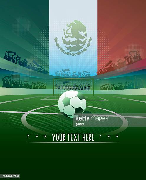 mexico soccer background - match sport stock illustrations, clip art, cartoons, & icons