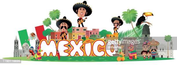 ilustrações, clipart, desenhos animados e ícones de méxico viagem - pinata