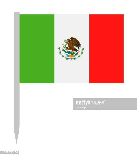 México - Vector bandera icono plana