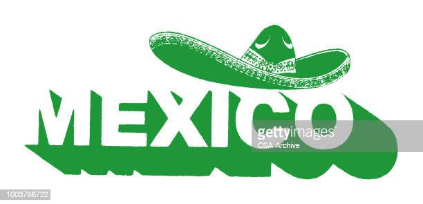 mexico - sombrero stock illustrations