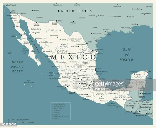 24 - mexico - vintage murena isolated 10 - ciudad juarez stock illustrations