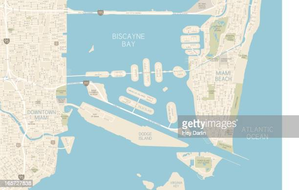 miami downtown karte - stadtplan stock-grafiken, -clipart, -cartoons und -symbole