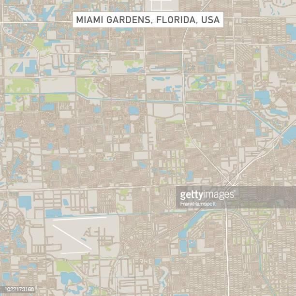 Miami Gardens Florida USA Stadtstraße Karte