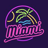 Miami neon sign