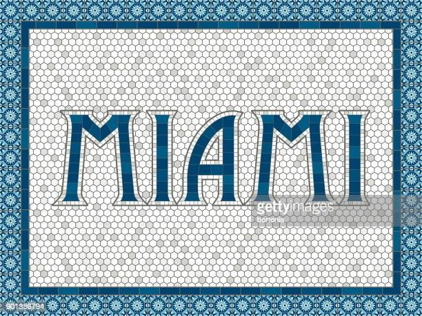 Miami Old Fashioned Mosaic Tile Typography