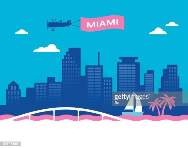マイアミの街並み - 米メキシコ湾沿岸点のイラスト素材/クリップアート素材/マンガ素材/アイコン素材