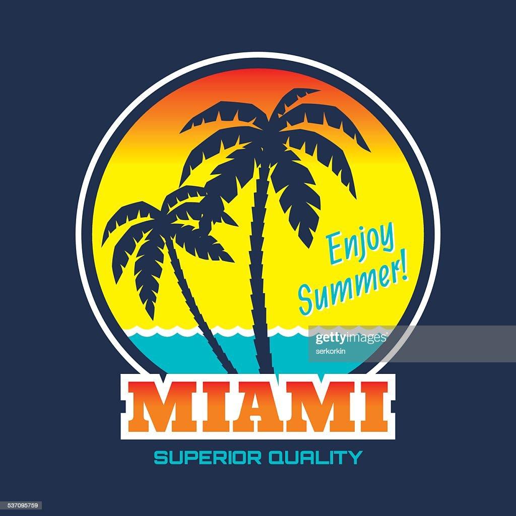 Miami - vintage illustration concept