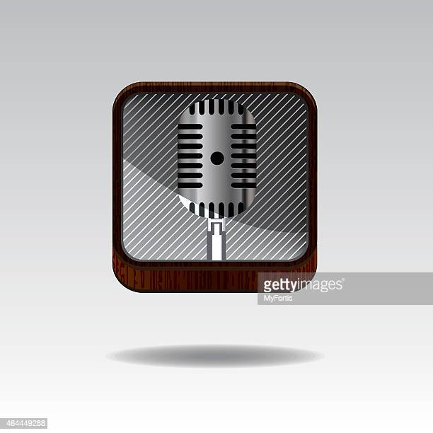3d mic button - classical theater stock illustrations, clip art, cartoons, & icons