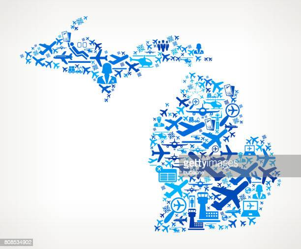 Michigan Aviation and Air Planes Vector Graphic
