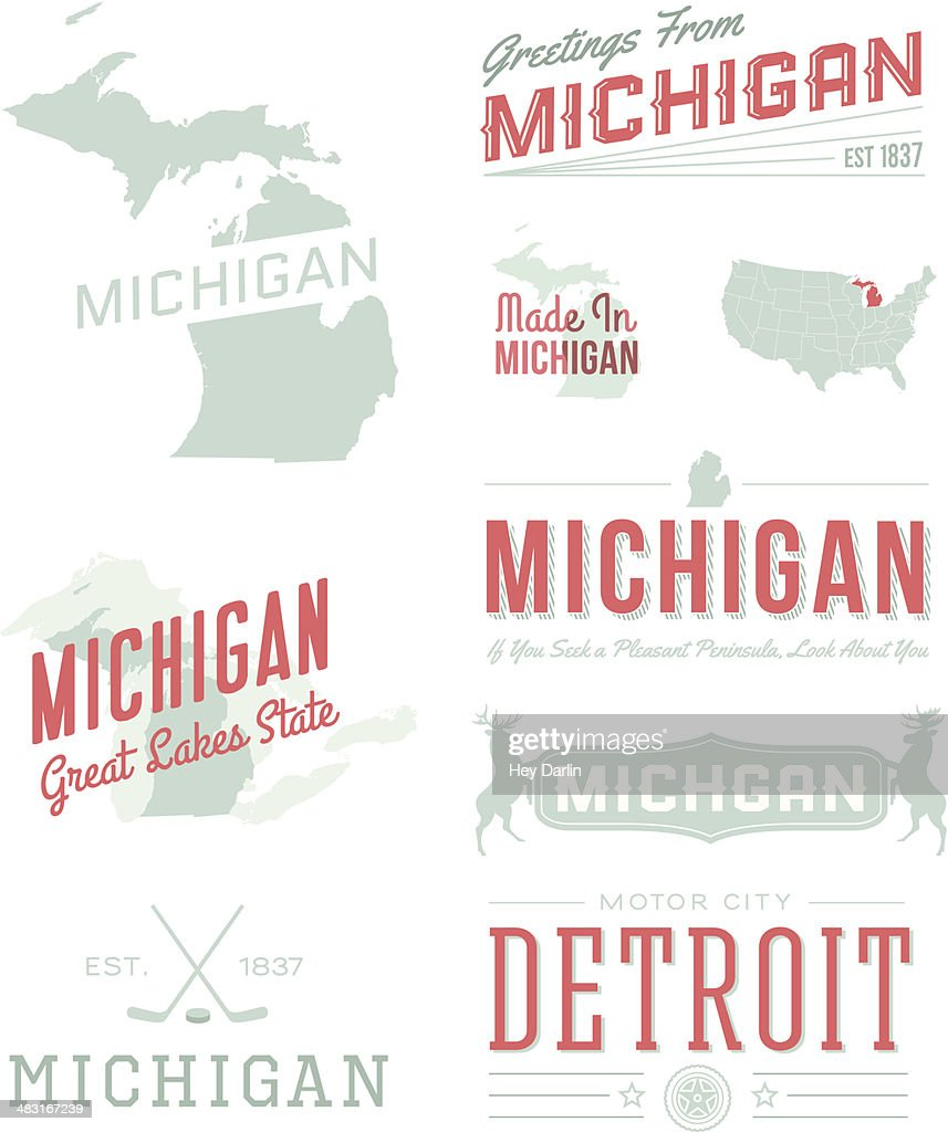 Michigan Typography