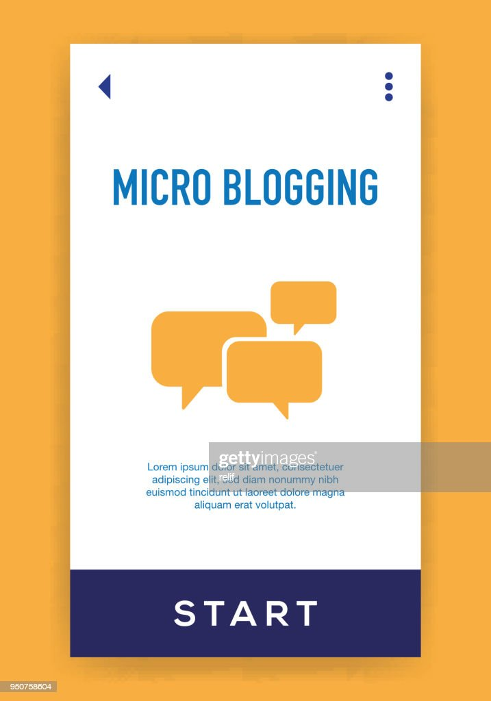 Micro Blogging Icon