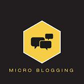 Micro Blogging Icon