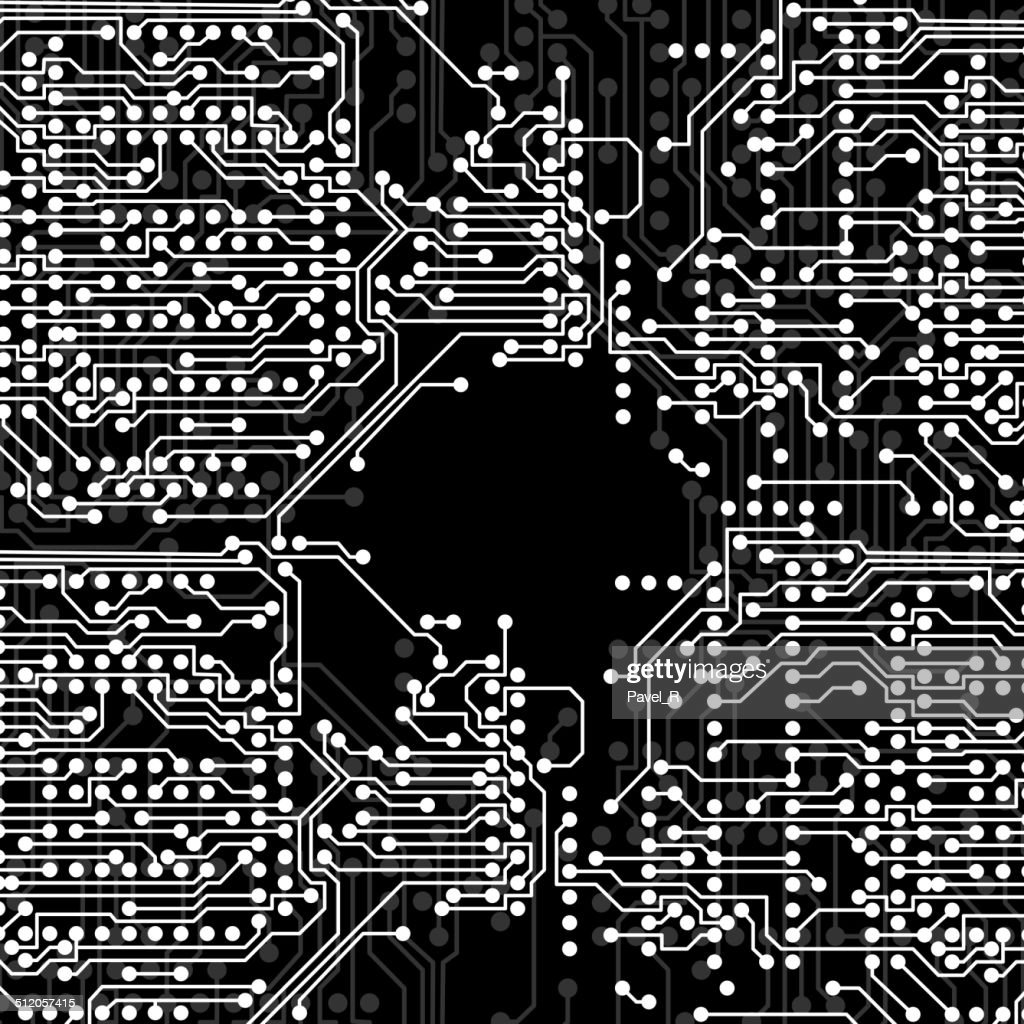 Microchip Background Electronics Circuit Eps10 Vector Illustration Printed Board Art