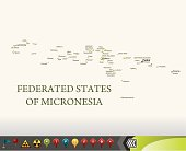 Micronesia map with navigation icons