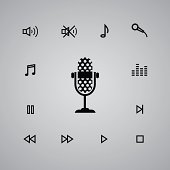 microphone and media icon