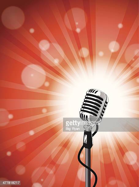 microphone burst - karaoke stock illustrations