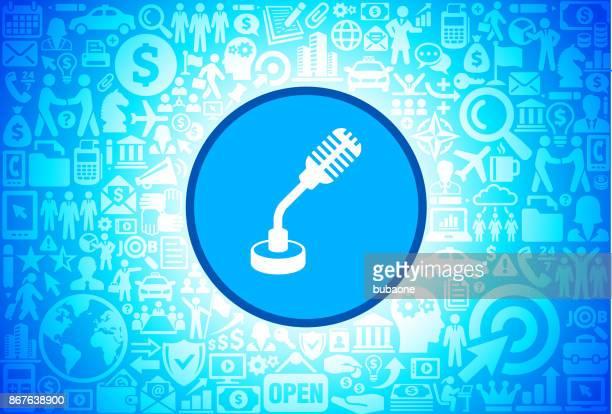 Mikrofonsymbol Business Und Finance Vektormuster Symbol Vektorgrafik ...
