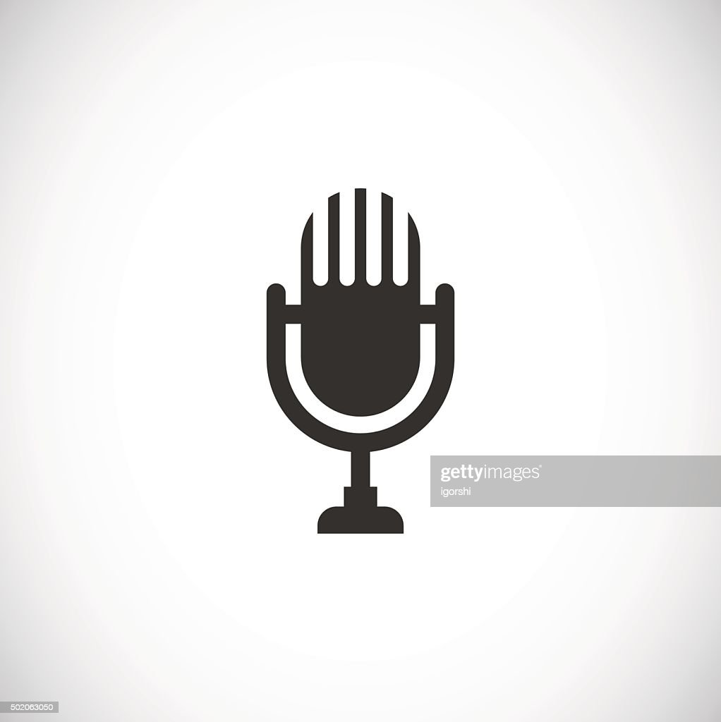 microphone icon retro